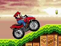 Флеш игра Марио на квадроцикле в мире Соника