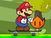 Флеш игра Марио на скейте
