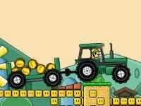 Флеш игра Марио на тракторе 2