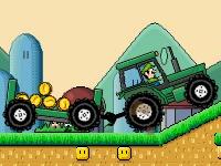 Флеш игра Марио на тракторе 3