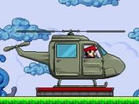 Флеш игра Марио на вертолете