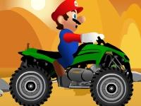 Флеш игра Марио водит квадроцикл
