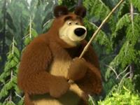 Флеш игра Маша и Медведь на рыбалке
