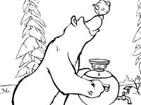 Флеш игра Маша и медведь: миша готовит чай