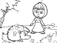 Флеш игра Маша и медведь: раскраска