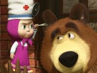 Флеш игра Маша и медведь: собери пазл