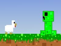 Флеш игра Майнкрафт: Бесконечный бег