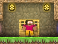 Флеш игра Майнкрафт: Сокровища в пещере
