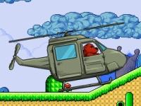 Флеш игра Медведь на вертолете