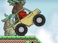 Флеш игра Медведь в грузовике