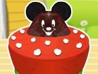 Флеш игра Микки Маус: Готовим торт с ушами