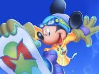 Флеш игра Микки Маус на сноуборде: Пазл