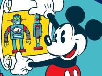 Флеш игра Микки маус: лаборатория роботов