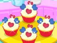 Флеш игра Милые кексы с сердечками