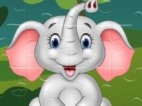 Флеш игра Милые слоники: Пазл