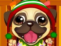 Флеш игра Милый рождественский щенок