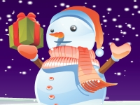 Флеш игра Милый снеговичок