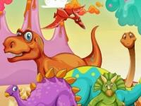 Флеш игра Мир динозавров: Поиск маленьких дино