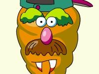 Флеш шутка Мистер овощная голова