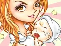Флеш игра Молодая мама Николь