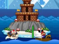 Флеш игра Морская битва Марио