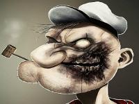 Флеш игра Моряк Папай зомби: Пазл