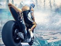 Флеш игра Мотогонка на льду 3D