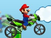Флеш игра Мотокросс Марио
