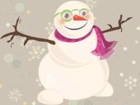 Флеш игра Мой милый снеговик