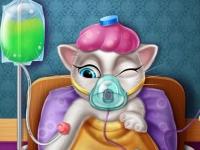 Флеш игра Моя говорящая Анжела болеет гриппом