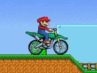Флеш игра Мультяшная гонка с Марио
