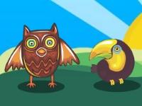 Флеш игра Мультяшные птицы: Найди пару