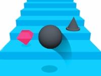 Флеш игра Мяч на ступенях