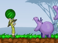 Флеш игра Накорми бегемота
