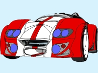 Флеш игра Нарисованная спортивная машина: Пазл