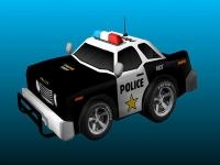 Флеш игра Нарисованный полицейский автомобиль: Пазл
