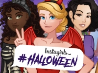 Флеш игра Наряд для звезды инстаграм: Хэллоуин
