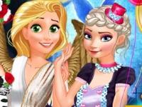 Флеш игра Наряди принцесс на Хэллоуин