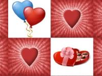 Флеш игра Найди пару: Святой Валентин