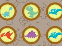 Флеш игра Найди пару динозавров