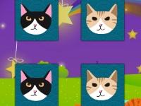 Флеш игра Найди пару кошек