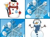 Флеш игра Найди пару снеговиков