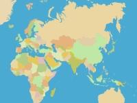 Флеш игра Найди все страны мира
