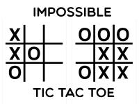 Флеш игра Невозможные крестики-нолики