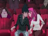 Флеш игра Незаметные поцелуи в кинотеатре