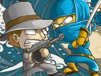 Флеш игра Ниндзя против мафии