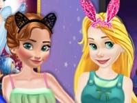Флеш игра Ночь фильмов у принцесс