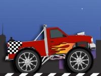 Флеш игра Ночная гонка на грузовике монстре