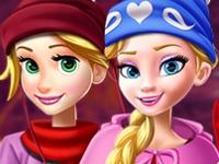 Флеш игра Новогоднее селфи принцесс