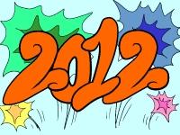 Флеш игра Новогодние раскраски 2012